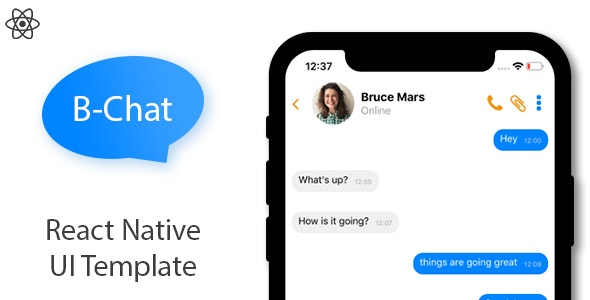B Chat - React Native UI Template by Bayoka44 | CodeCanyon