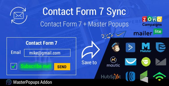 Contact Form 7 Sync - Master Popups Addon. Email Marketing WordPress Plugin