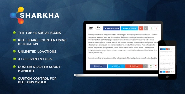 Sharkha - Share Counter, Views Counts & Voting System - CodeCanyon Item for Sale