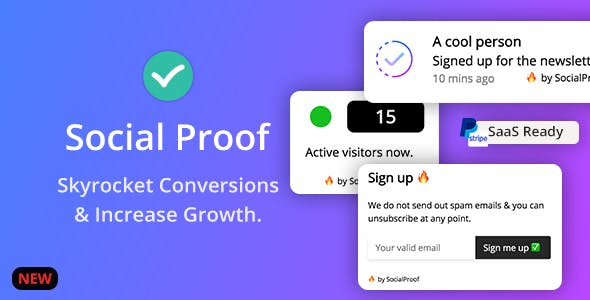 Social Proof - Skyrocket Conversions & Growth ( SaaS Platform ) - CodeCanyon Item for Sale