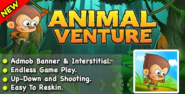 Animal Venture + Endless Game For Kids + Ready For Publish