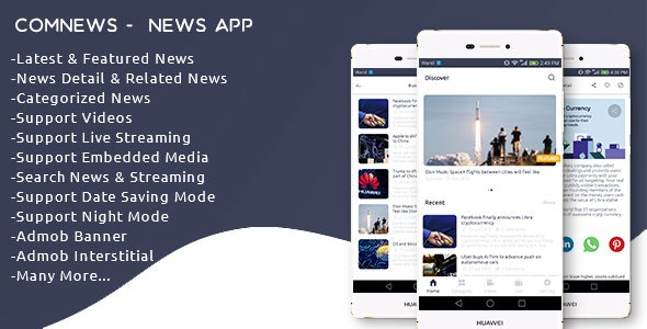 ComNews -  Android News App with Admin Panel - CodeCanyon Item for Sale