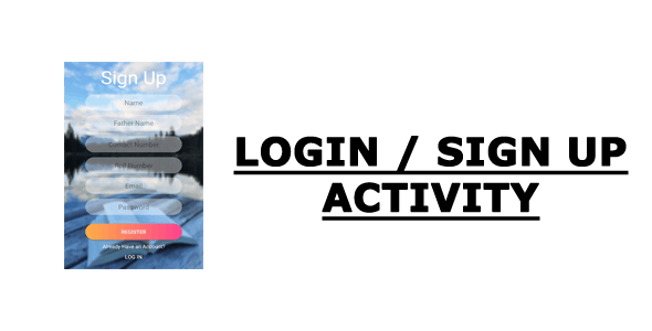 LogIn/SignUp Activity
