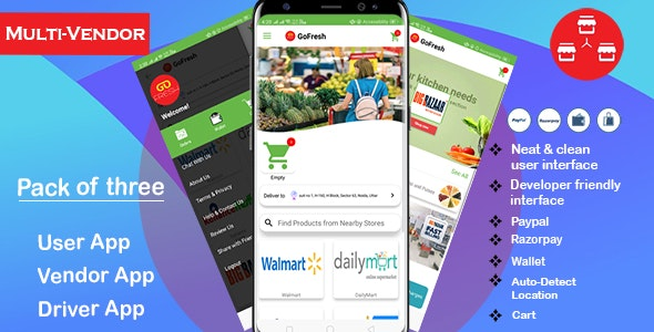 Multi Vendor Grocery Android App with Backend | Bigbasket
