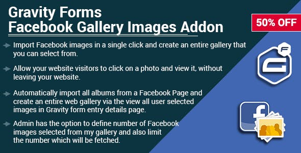 Gravity Forms Facebook Gallery Images Add-on