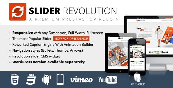 Slider Revolution Responsive Prestashop Module