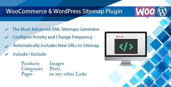 WooCommerce & WordPress Sitemap Plugin, Generate XML Sitemap - CodeCanyon Item for Sale