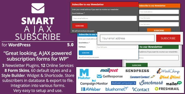 Smart AJAX Subscribe - Plugin for WordPress