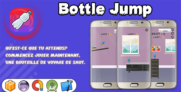 Bottle Jump ( android studio Project + Eclipse + Xcode + Admob  + Bbdoc )