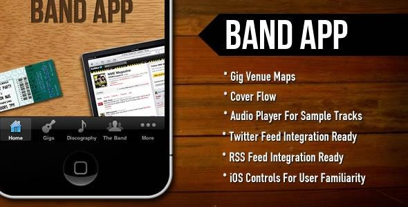 BandApp - CodeCanyon Item for Sale