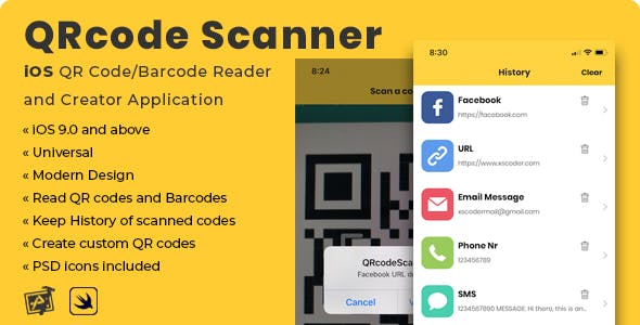 QRcode Scanner | iOS QR Code/Barcode Reader and Creator Application