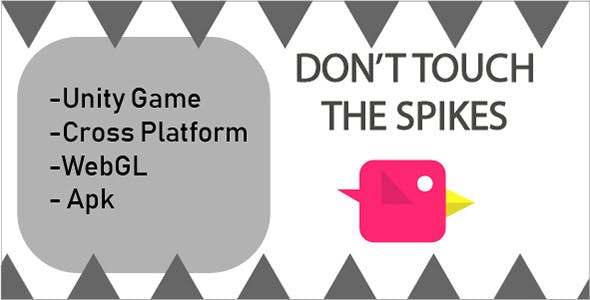 Don't Touch the Spikes Unity game (android& ios) WegGL