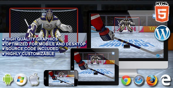 Hockey Shootout - HTML5 Sport Game
