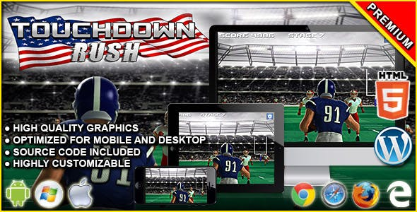 Touchdown Rush - HTML5 Sport Game