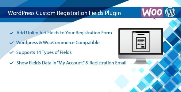 WordPress Custom Registration Fields Plugin - CodeCanyon Item for Sale