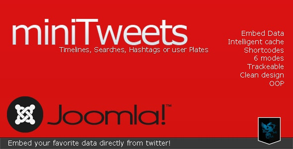 miniTweets for Joomla - Embed Twitter Data - CodeCanyon Item for Sale