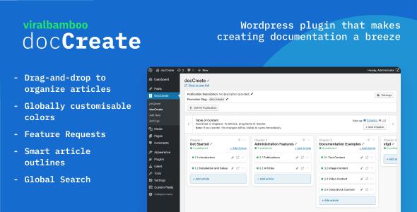 DocCreate - Wordpress documentation creator | WP Knowledge base plugin - CodeCanyon Item for Sale