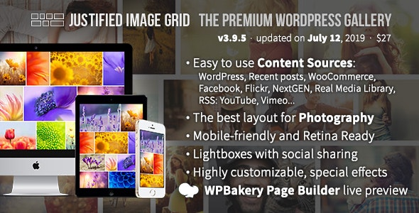 Justified Image Grid - Premium WordPress Gallery by Belcovio