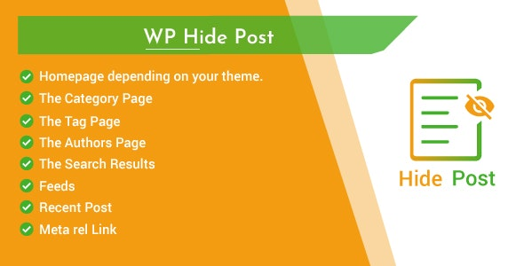 Hide Post and Page for WordPress - Hide specific post from Category,Home and Search result page - CodeCanyon Item for Sale