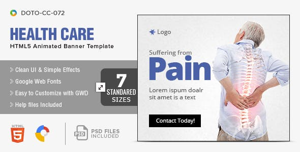 Health Care HTML5 Banners-7 Sizes