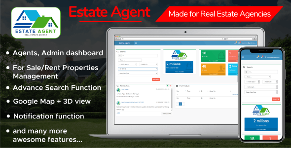 EstateAgent - Powerful Real Estate Management System - CodeCanyon Item for Sale