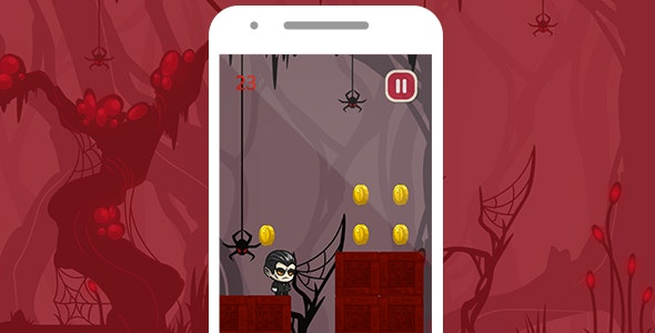 VAMPIRE JUMP WITH ADMOB - ANDROID STUDIO & ECLIPSE FILE