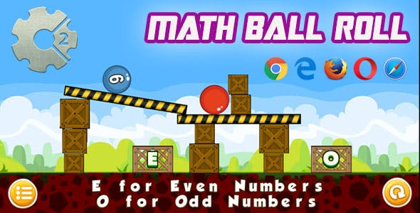 MathBall Roll - HTML5 Physics Game