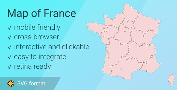 Map of France - CodeCanyon Item for Sale