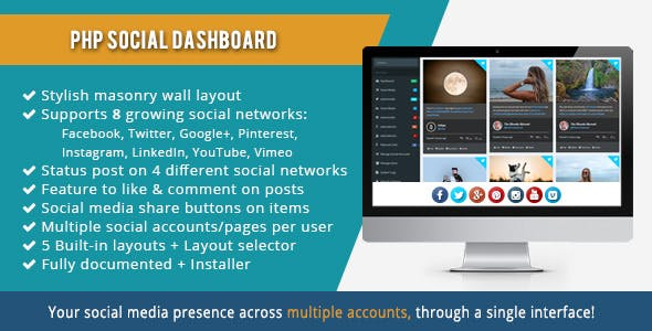 PHP Social Dashboard