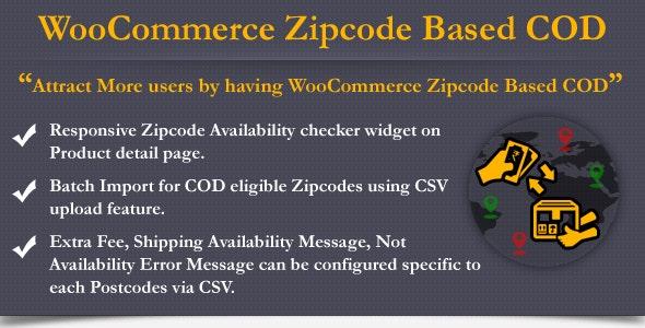 WooCommerce Zipcode Based COD - CodeCanyon Item for Sale