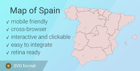Map of Spain - CodeCanyon Item for Sale