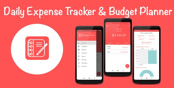 Daily Expense Tracker & Monthly Budget Planner For Android with Admob
