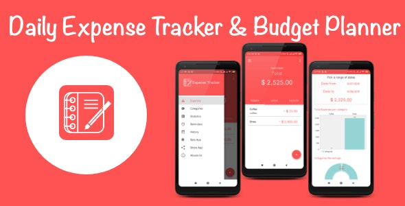 Daily Expense Tracker & Monthly Budget Planner For Android with Admob Ads - CodeCanyon Item for Sale