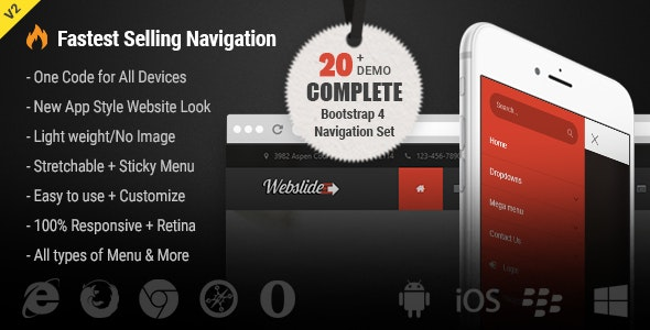 Web Slide - Bootstrap 4 Mega Menu Responsive by UXWing | CodeCanyon