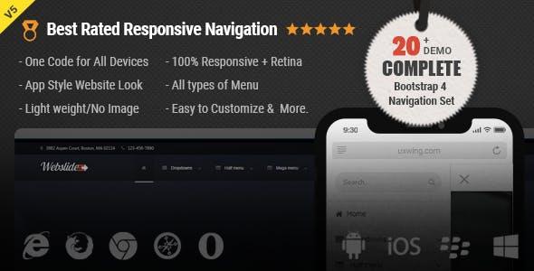 Web Slide - Responsive Mega Menu CSS, HTML Dropdown Menu