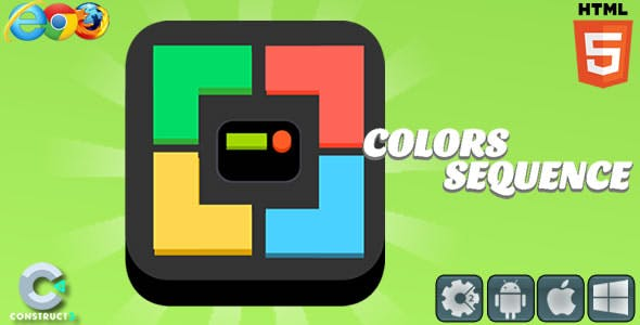 Colors Sequence - HTML5 Game (C3)