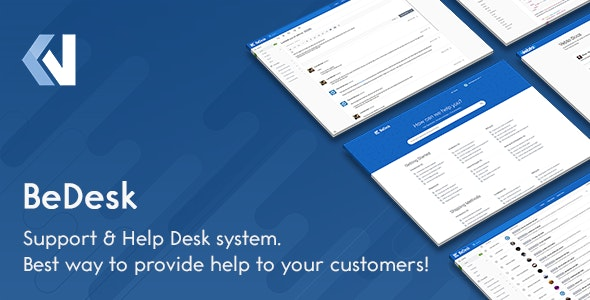 BeDesk - Customer Support Software & Helpdesk Ticketing System - CodeCanyon Item for Sale