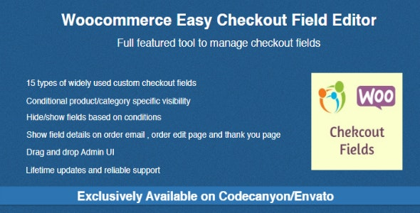 Woocommerce Easy Checkout Field Editor - CodeCanyon Item for Sale