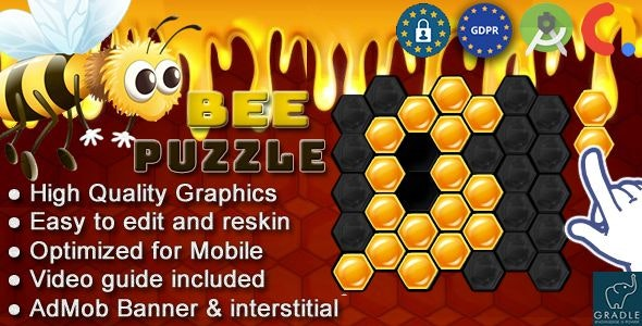 BEE PUZZLE (Admob + GDPR + Android Studio) - CodeCanyon Item for Sale