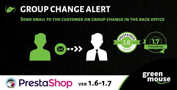 Prestashop Group Change Alert