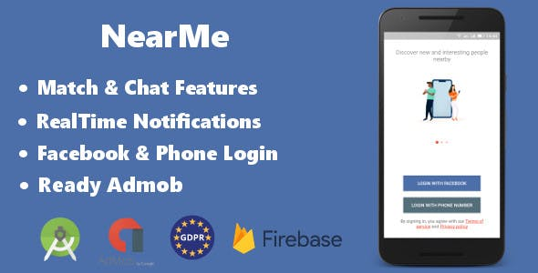 NearMe | Android Dating App (Android Studio & Firebase)