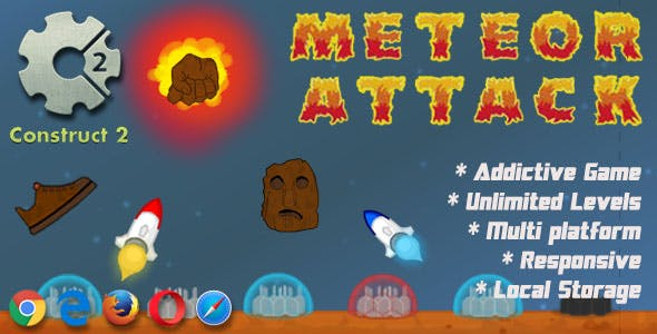 Meteor Attack - HTML5 Game