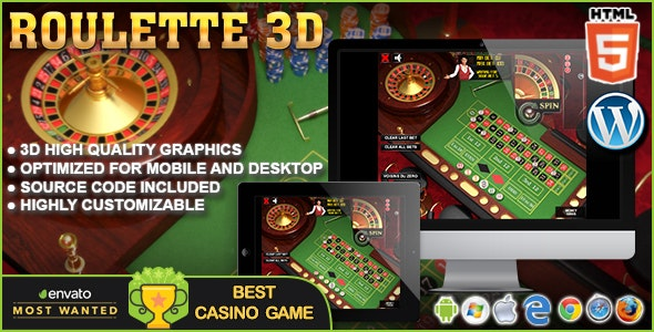 3D Roulette - HTML5 Casino Game by codethislab   CodeCanyon