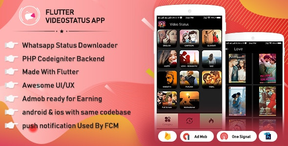 Flutter WhatsApp video status & video sharing with admin panel - CodeCanyon Item for Sale