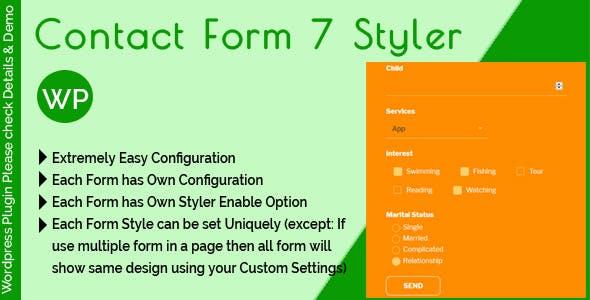 Contact Form 7 Styler - Make Form Stylish Using Custom Design