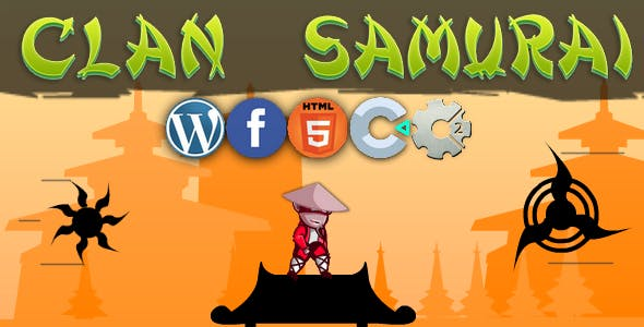 Clan Samurai - Clicker, html5, wordpress
