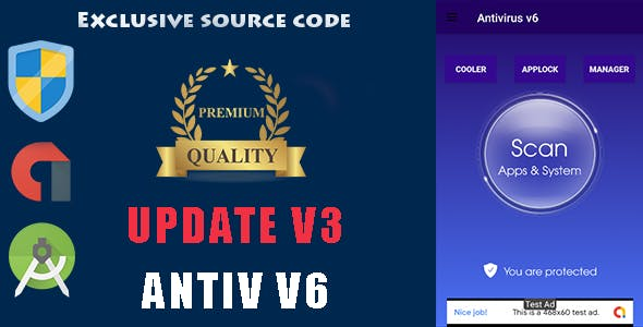Antivirus + Applock + Booster + Cleaner + AppManager + Cooler ---update v3 ---