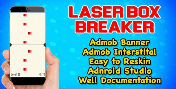 Laser Box Breaker Puzzle Game - Admob - Android Studio - Ready For Publish