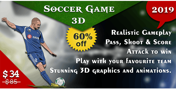 Soccer Game-3D with AdMob