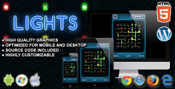 Lights - HTML5 Skill Game